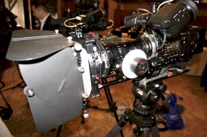 PMW-F55 with Fujinon Cabrio, Genus Elite Matte Box.