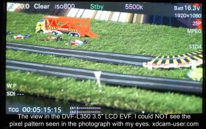 Looking into the DVF-L350 LCD EVF.