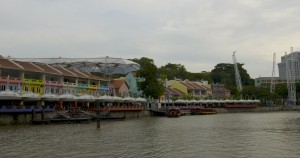 Shot of Clark Quay after applying a Hypergamma LUT.