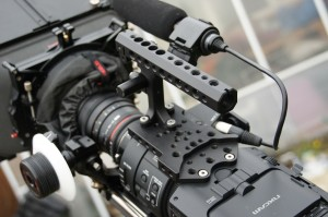 Micron FS700 top cheese plate and Manhandle.