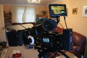 Sony PMW-F5 with Alphatron EVF and TV Logic monitor.